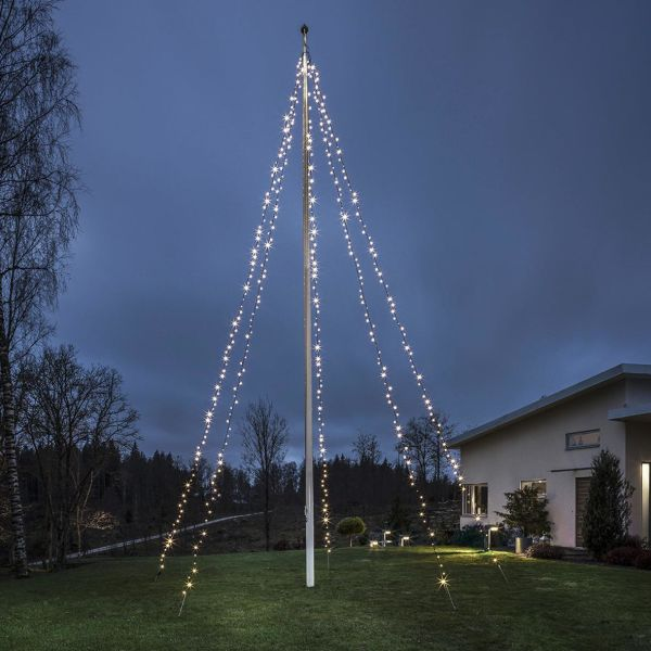Flaggstångsslinga Konstsmide 4780-117 5x100 LED, 24V/IP44