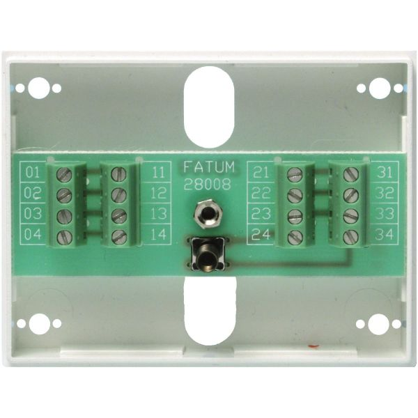 Alarmtech Fatum Mini Larmbox 8-polig, med sabotagekontakt Skruv/Skruv