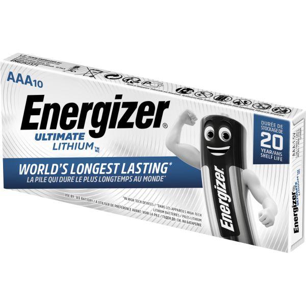 Litiumbatteri Energizer Ultimate Lithium 1,5 V, 10-pack AAA