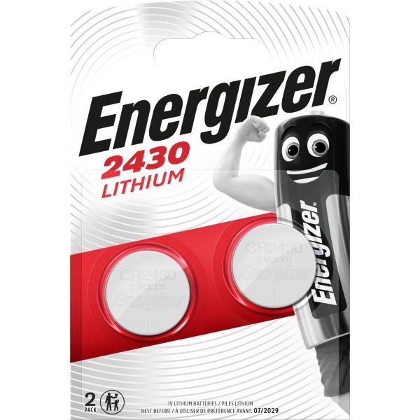 Knappcellsbatteri Energizer 2430 litium, 3 V, 2-pack