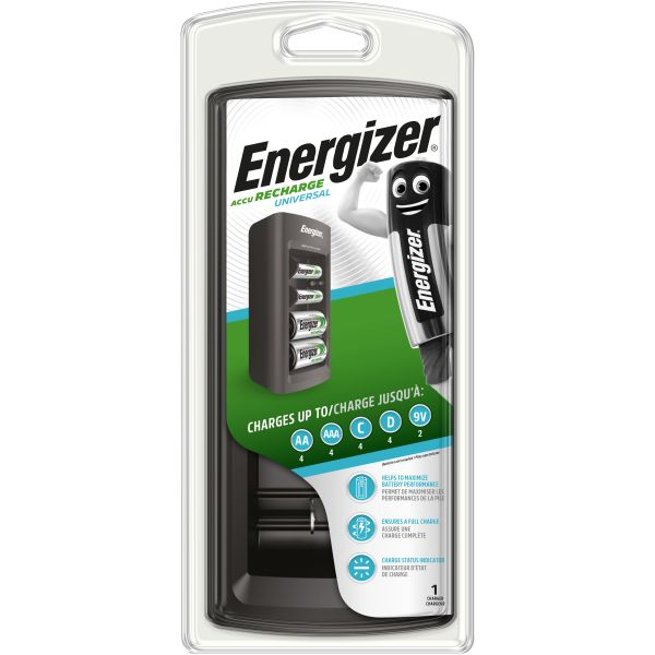 Batteriladdare Energizer Recharge UNIVERSAL AA, AAA, C, D och 9 V