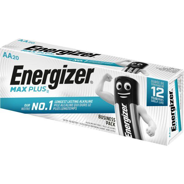 Alkaliskt batteri Energizer Max Plus AA, 1,5 V, 20-pack