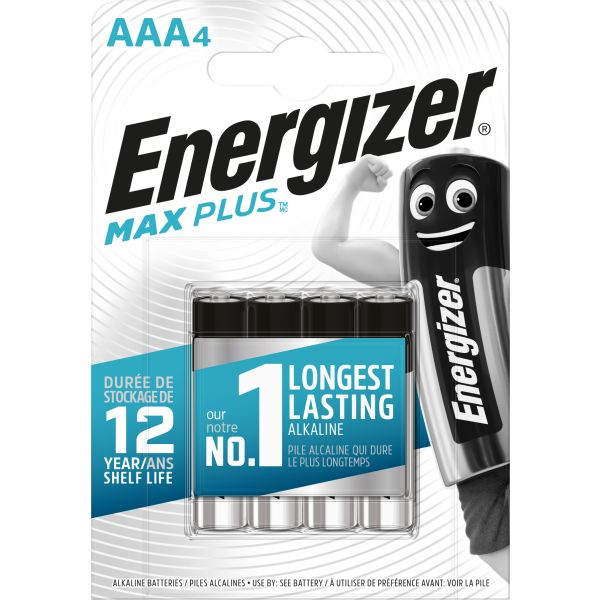 Alkaliskt batteri Energizer Max Plus AAA, 1,5 V