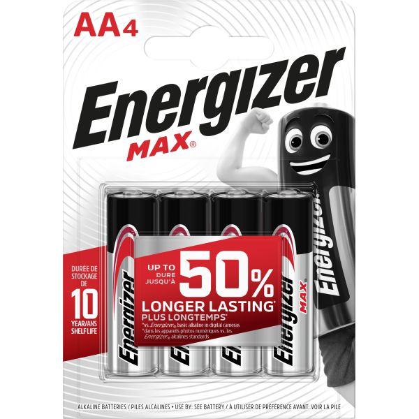 Batteri Energizer Max AA, 1,5 V 4-pack
