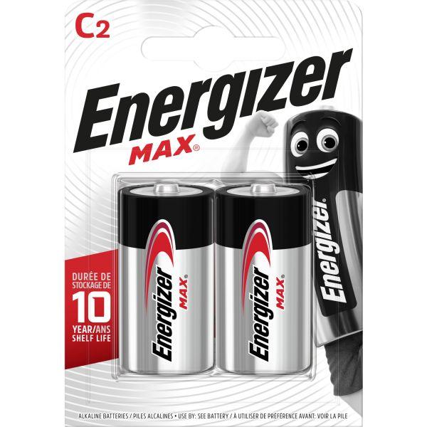 Batteri Energizer Max C, 1,5 V, 2-pack