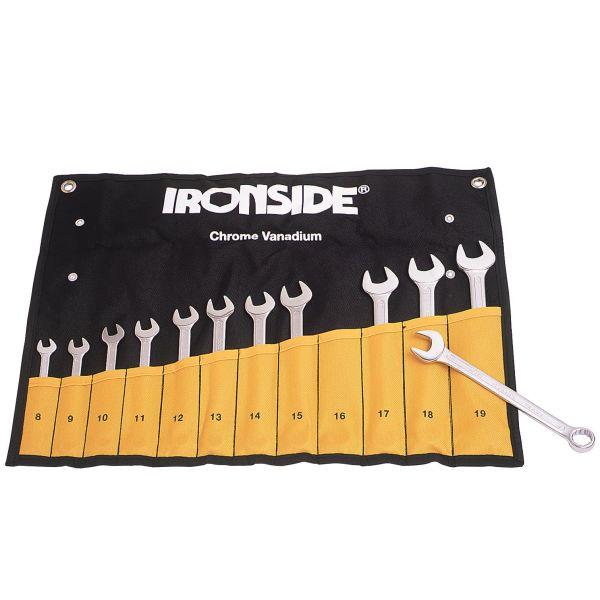 Blocknyckelsats Ironside 112301 12 delar, 8-19 mm, i väska