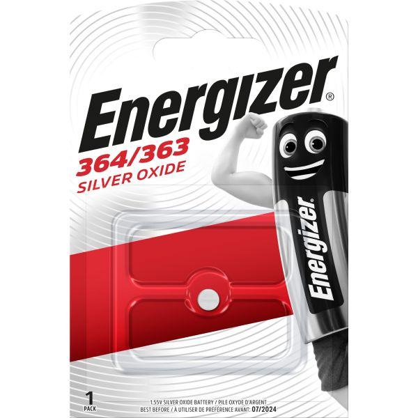 Knappcellsbatteri Energizer 364/363 silveroxid, 1,55 V 6,8 x 2 mm