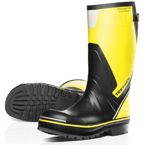 Skyddsstövel Tretorn Spiktramp Pro gul/svart, stålhätta Strl 36