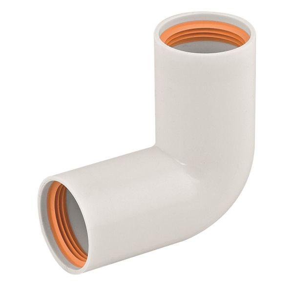 Böj Faluplast 2316114 dubbel, 90° 40 mm