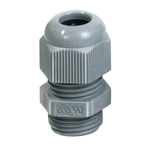 Förskruvning Rutab 1476111 IP68, grå, med tätningsring M12 x 3-6 mm