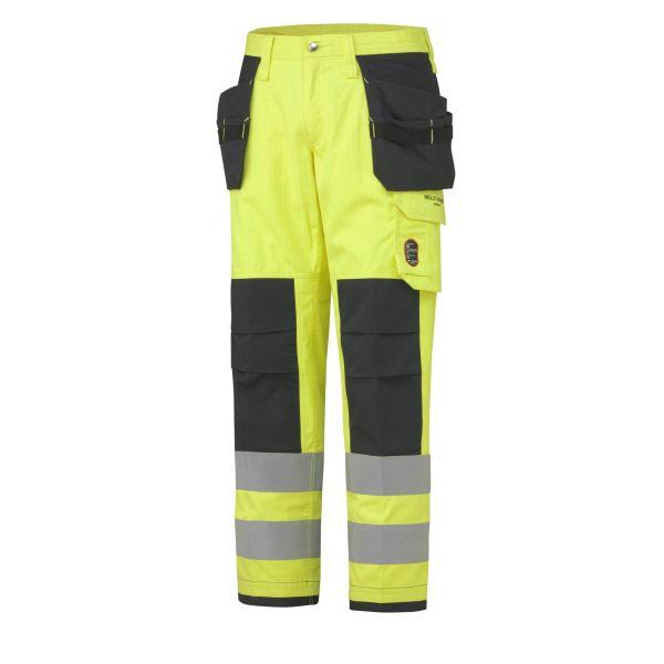 H/H Workwear Aberdeen Arbetsbyxa varsel gul/granitgrå C50