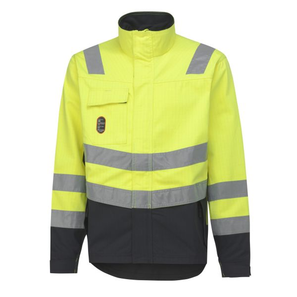 H/H Workwear Aberdeen Jacka varsel gul/svart 3XL