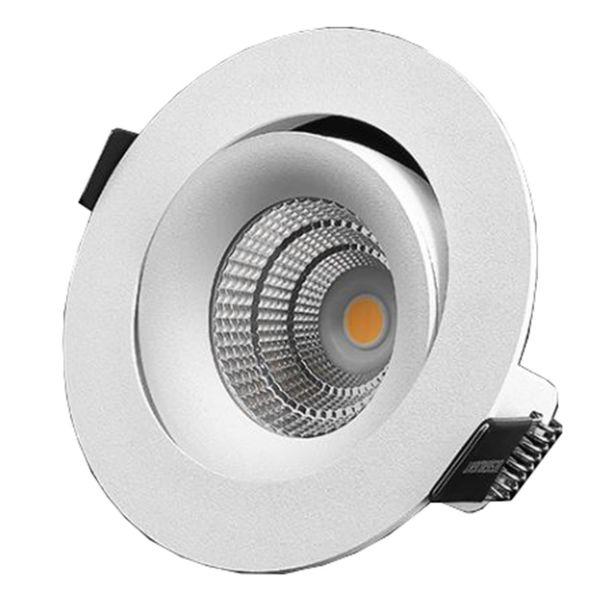 Downlight Designlight P-1603530 7 W, stillbar, hvit 3000 K