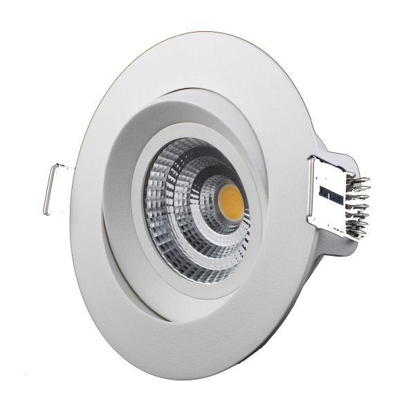 Downlight Designlight M-Penny 7 W, vinklingsbar, 6-pakning 3000 K, 540 lm
