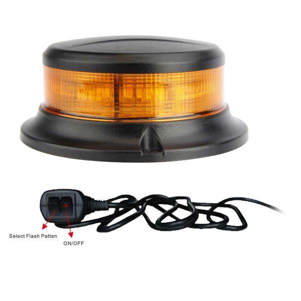 Varningsljus Rutab 740-5085 12-30 V, för planmontage