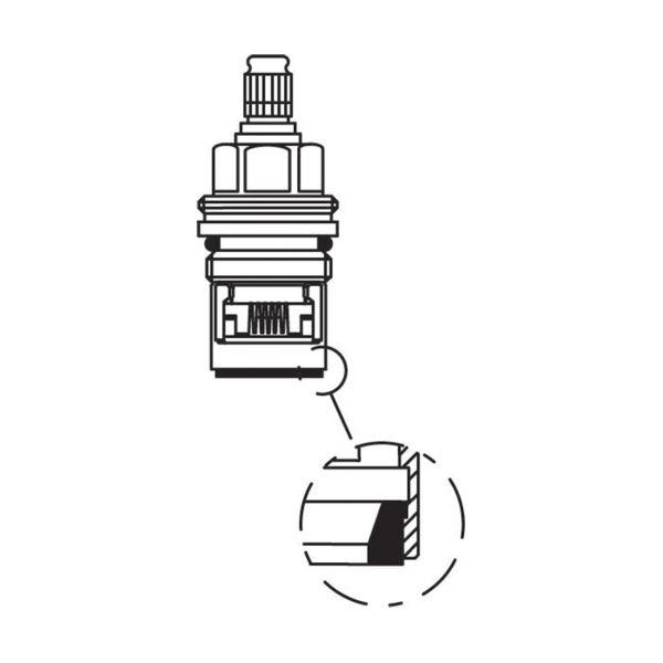 Kranoverdel Oras 109898 til Oramix termostatbatteri