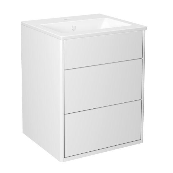 Gustavsberg Graphic Kommodpaket slät vit 45 cm
