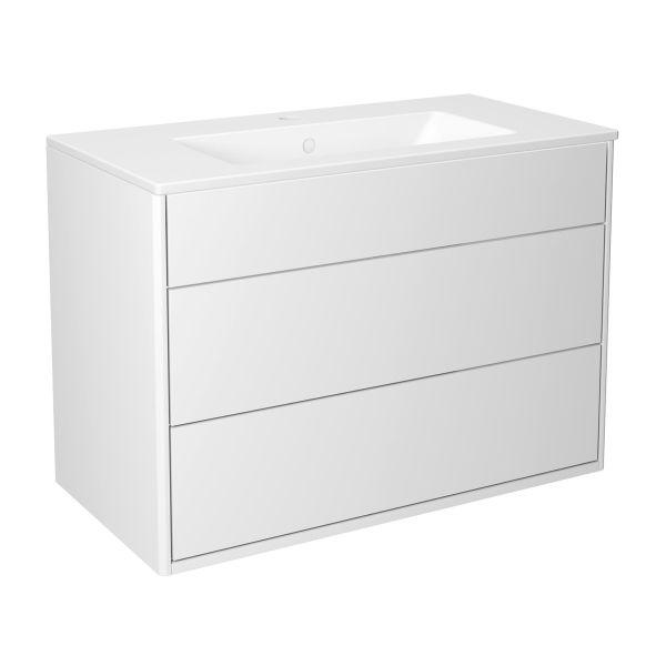 Kommodpaket Gustavsberg Graphic slät, vit, 80 cm