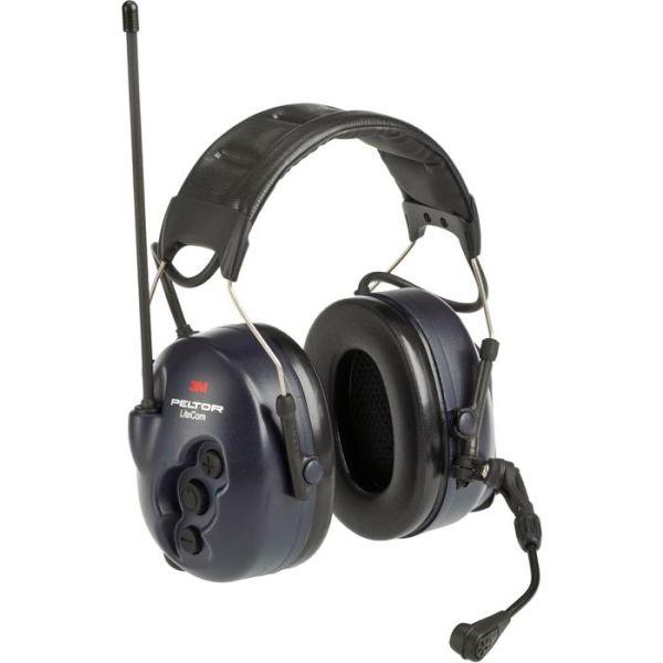 Hörselskydd 3M Peltor LiteCom med komradio, hjässbygel