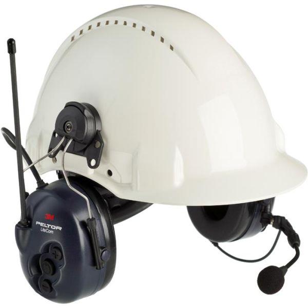 Hörselskydd 3M Peltor LiteCom med komradio, hjälmfäste
