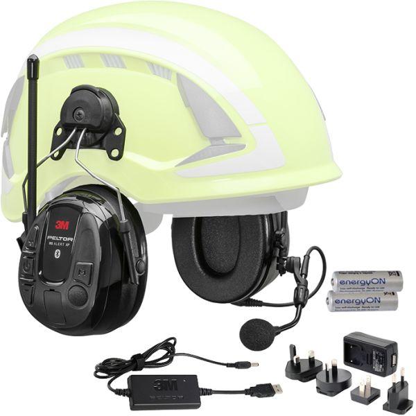 Hörselskydd 3M Peltor WS Alert XP Bluetooth med hjälmfäste laddpaket