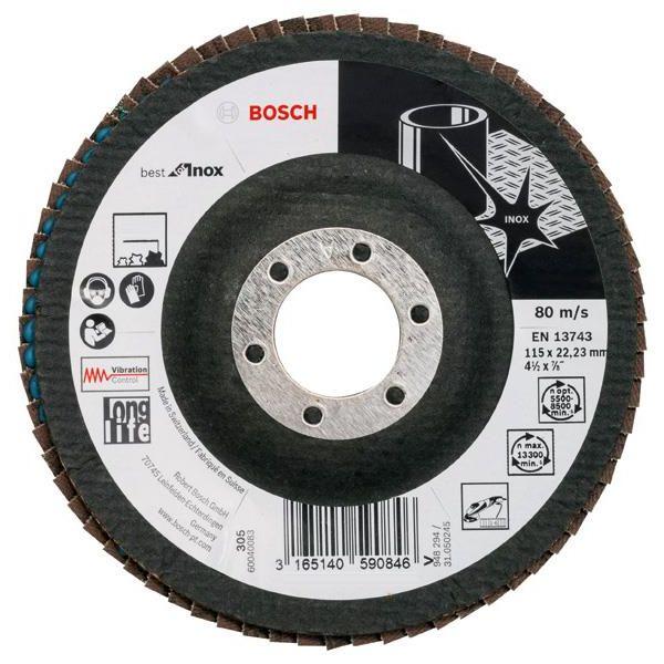 Bosch Best for Inox Lamellslipskiva 115x2223mm K80