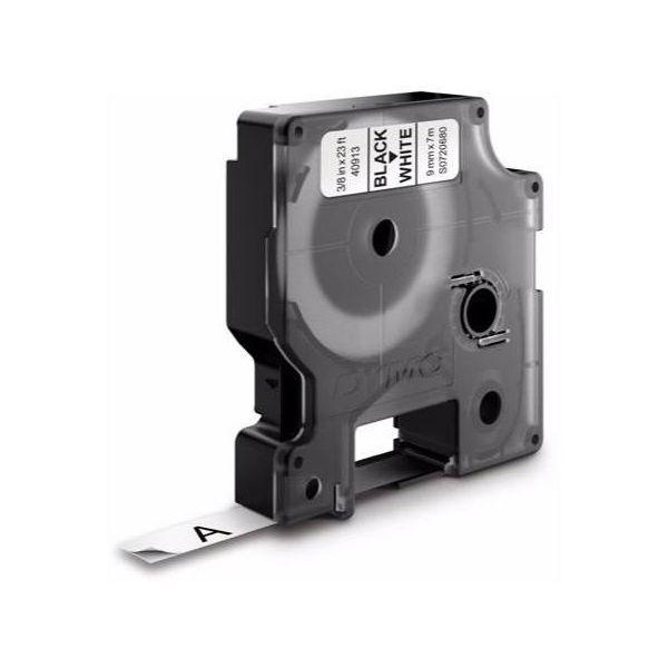 Teippi DYMO Standard D1 9mm Musta teksti, valkoinen pohja