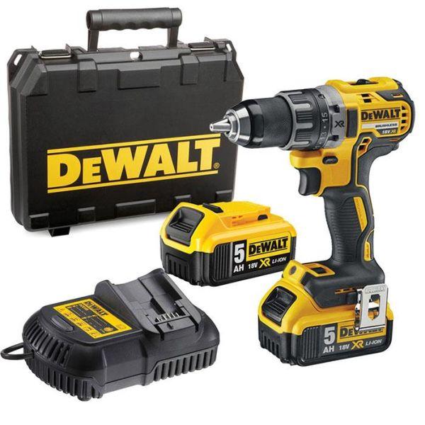 Borrskruvdragare Dewalt DCD791P2 med 5,0Ah batterier och laddare
