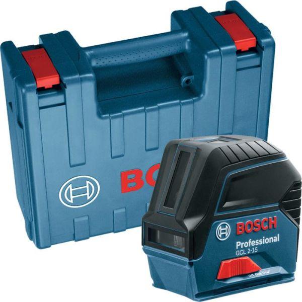 Korslaser Bosch GCL 2-15 med hård plastväska