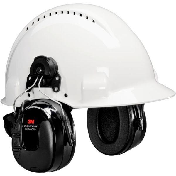 Hörselskydd 3M Peltor WorkTunes Pro med hjälmfäste