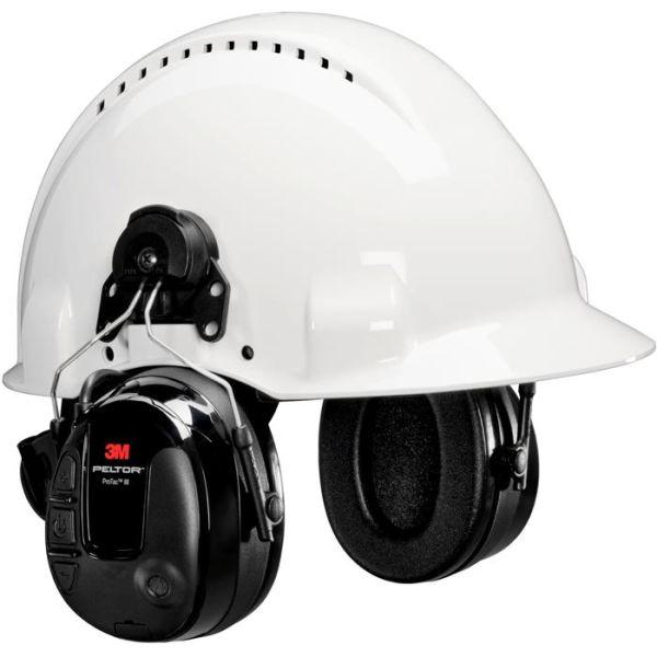 Hørselsvern 3M Peltor ProTac III med hjelmfeste