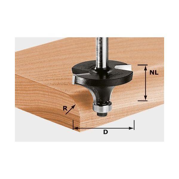 Avrundningsfräs Festool HW S8 D31,7/R9,5 KL 8mm spindel