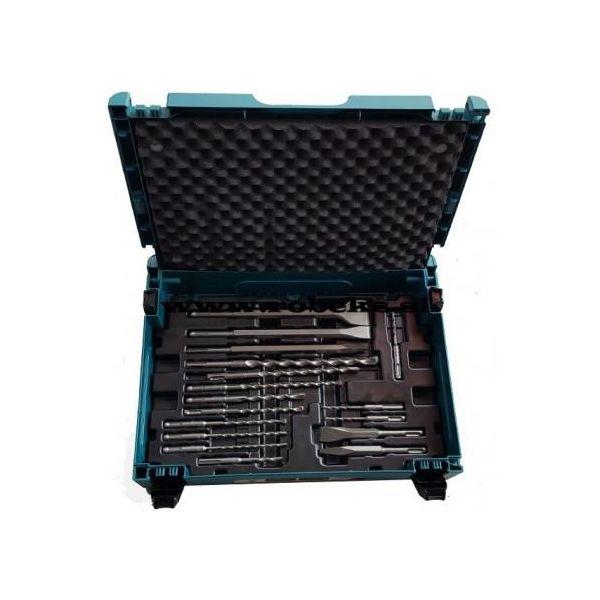 Borr- och mejselset Makita B-52059 SDS-Plus, 17 delar