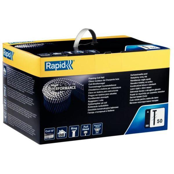 Rapid 50 Spik Rundbandad 75 mm, 2700-pack