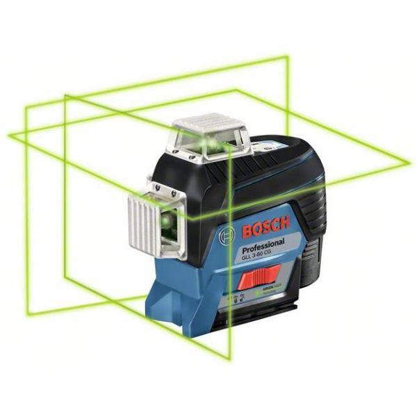 Korslaser Bosch GLL 3-80 CG med 2,0Ah batteri och laddare