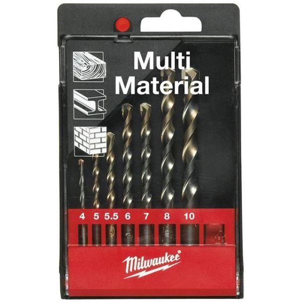 Milwaukee Multi Material 4932352836 Universalborrset runt fäste, 7 delar