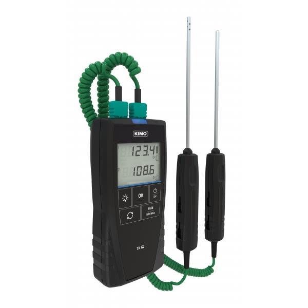 Temperaturmätare Kimo TK62S med certifikat
