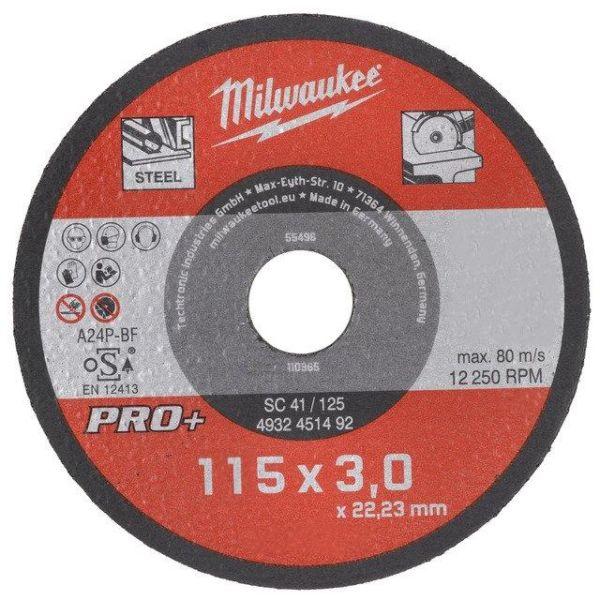 Kapskiva Milwaukee SCS 41 PRO+  115x3 mm