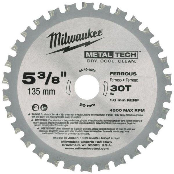Sågklinga Milwaukee 48404070 135x20mm, 30T