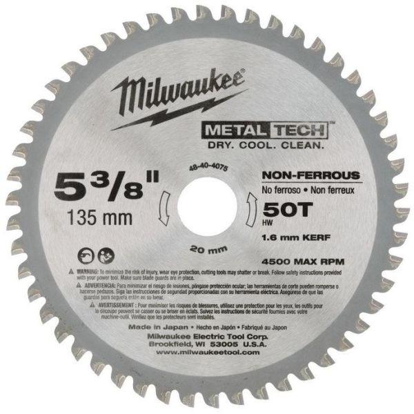 Sågklinga Milwaukee 48404075 135x20mm, 50T