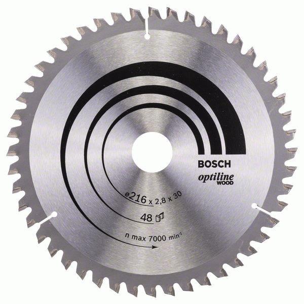 Sagklinge Bosch 2608640641 Optiline Wood 216x2,8x30mm, T48
