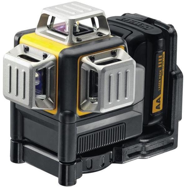 Krysslaser Dewalt DCE089LR med alkaliske AA-batterier
