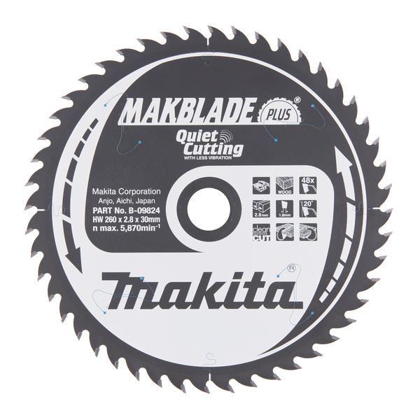 Sagklinge Makita B-09824 260x30mm, 48T