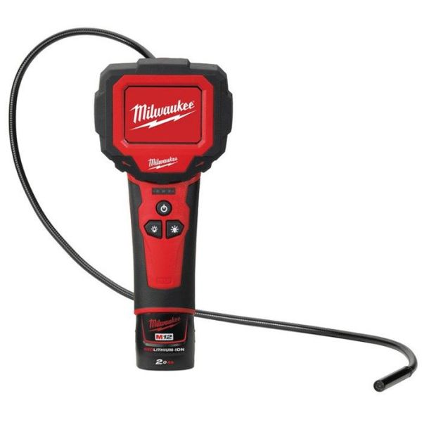 Inspektionskamera Milwaukee M12 IC-201C S med 2,0Ah batteri och laddare