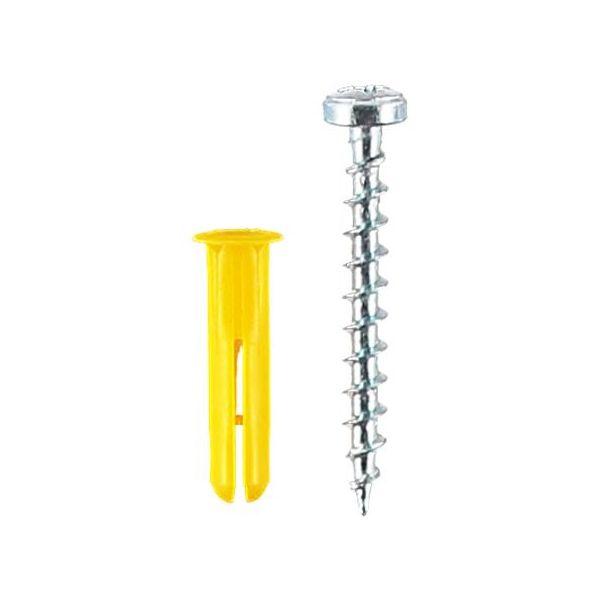 ESSVE TB Plastplugg med skruv, 10-pack 4,0x30mm