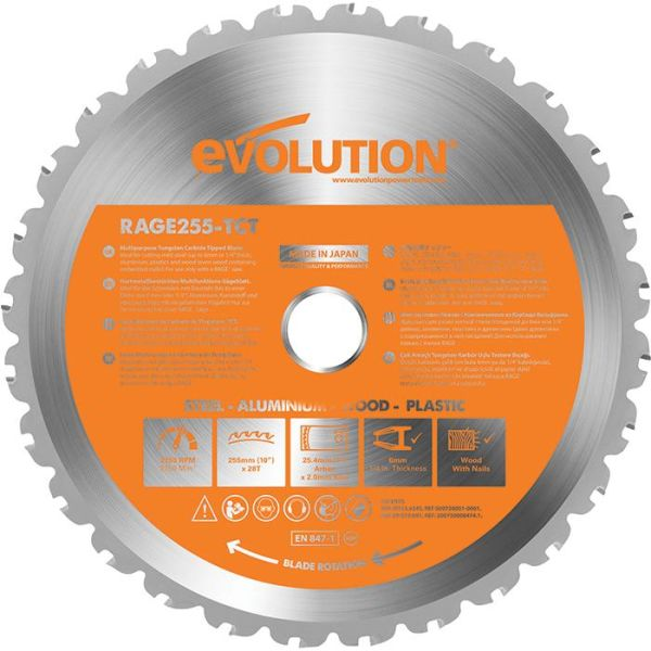 Evolution EVR255S Sågklinga 255x2,0x25,4 mm