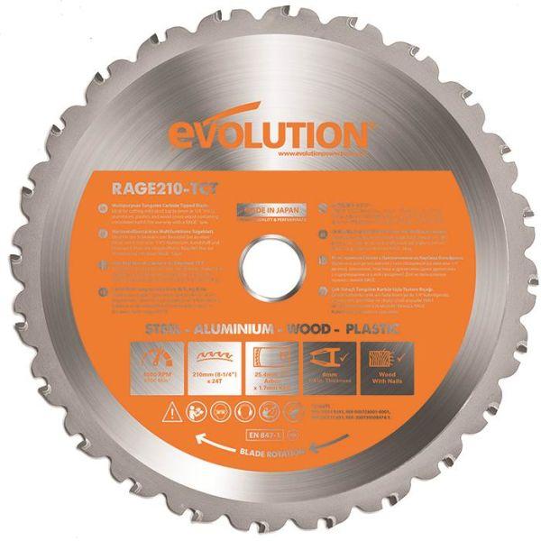 Evolution EVR210S Sågklinga 210x25,4mm, 24T