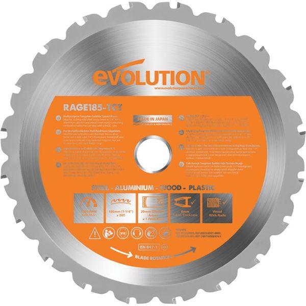 Evolution EV185S Sågklinga 185x20mm, 20T