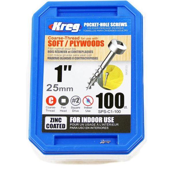 Kreg SPS-C1-100 Skruv 25 mm 100-pack