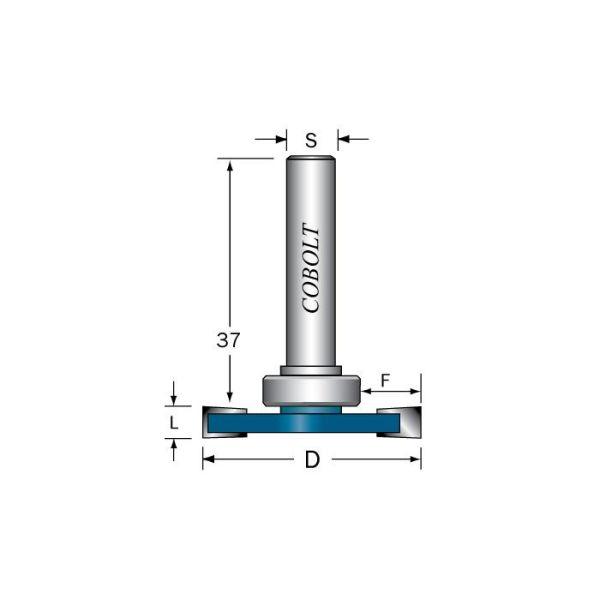 Skivnotfräs Cobolt 213-030 utan lager L=3 mm, D=36